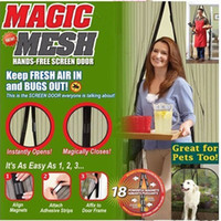 Wholesale 100pcs Magic Mesh Hands Free Screen Door Magnetic High efficiency Anti Mosquito Bug Great For Pet