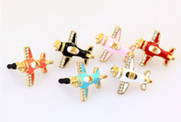 airplane earphone - Different color airplane shape ear cap earphone dust plug for all mm