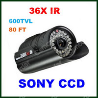Wholesale 36 IR LED CCTV IR Day amp Night For DVR Security System SONY Super HAD CCD TVL Weatherproof Outdoor Bullet Camera