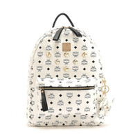 Wholesale 2013 Backpack Classic brand designer MCM Large size stark backpack stone Designer Handbags Cheap fashion casual print handbags