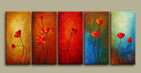 Wholesale 100 Handmade Abstract Oil Painting On Canvas Wall Art Blooming Flower Unique Style Top Home Decoration Cheap Price Buy Paintings Online