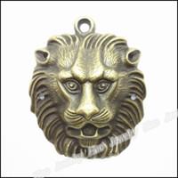 antique bronze lion - Vintage Charms Lion x45mm Pendant Antique bronze Fit Bracelets Necklace DIY Jewelry