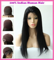 Wholesale 2013New Arrival Various Shipment Rani Hair Indian Remy Human Hair Glueless Full lace wigs Inch YAKI Straight EB071