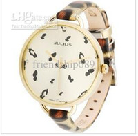 Wholesale Julius Korea vogue personality women s watches leopard grain lady watch Leather strap9196 JA