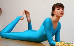 New Suit Lycra Spandex Zentai Blue Catsuit Costume