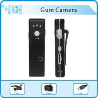 Wholesale Gum Mini DV Spy Gum Camera DVR Voice Video Recorder Web Camera mini Camcorder Hidden pinhole camera max up to GB