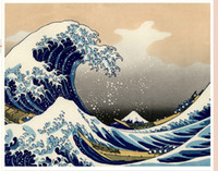 art bistro - The Great Wave Off Kanagawa by Katsushika Hokusai oil reproduct Large scenery ocean wave oil on canvas Marine arts for bistros