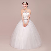 Model Pictures embroidered chiffon lace - 2013 new hot selling strapless Chiffon bra straps wedding dress embroidered lace Korean Princess sweet slim dress DK152TS