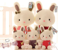 Wholesale Small Sized Rabbit Plush Toys Butterfly Stuffed Animals Girls Dolls Children Bunny Story Helper Pink Purple Amaranth Height CM D0050