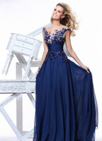 A-Line Sexy Sequins WOW~Blue Chiffon See Through Prom Dresses Jewel Ruffles Sequin Applique Sparkle Pleated Backless Party Dresses Exquisite Evening Dresses