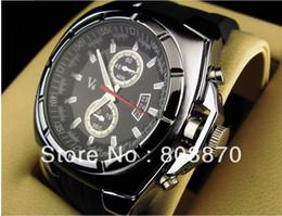 Men's V6 Business Quartz watch Sports Dress Military wristwatch Man watches