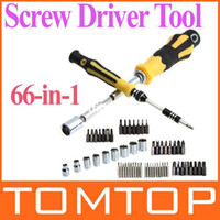Wholesale 66 in Professional Screwdriver Hardware Screw Driver Tool Kit Set Freeshipping Dropshipping