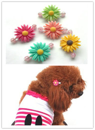 Free shipping pet dog puppy hair grooming bow accessories with clip colorful flower style 20pcs lot