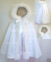 Wholesale 2014 Hot Baby Poncho Ivory and White Stunning Children s Cloaks Faux Fur Ankle Length Perfect For Winter Kids Cape Outwear BO2327