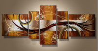 Wholesale Large Modern Oil Paintings on Canvas Handmade Still Living Panels set Decor Office Fine Artwork Hot Selling UP TO OFF PROMOTION