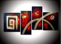 художественное оформление Ручная роспись маслом горной дороге стены абстрактные бескаркасных рисовать картины маслом