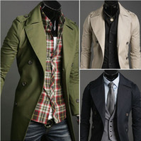 Wholesale Hot temperament Daren male trench coat double breasted men s long coat