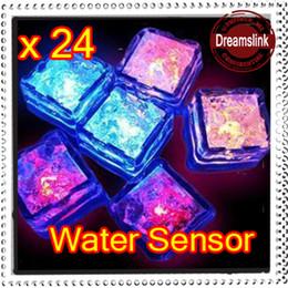 Wholesale 24 LED Color Change Reuse Flash Light Ice Crystal Cube