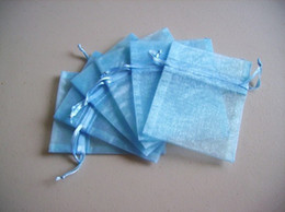 500pcs 7x9cm Light blue jewelry gift pouch wedding organza bags Wedding Favor Party
