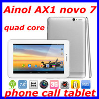 Wholesale Ainol novo Numy AX1 android tablet pc inch MTK8389 Quad Core G WCDMA Tablet Phone GPS HDMI Bluetooth