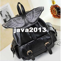 angels backpacks - spring bag cool backpack large angel wings capacity personality embroidery casual bag