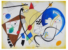 Wholesale Throughgoing Line By Wassily Kandinsky abstract canvas handmade oil paintings reproduct hand paintedoil paintings artwork