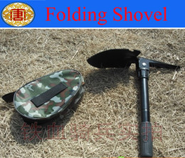 Wholesale High quanty Mini Multi function Folding Shovel Survival Trowel Dibble Pick Camping Outdoor Tool