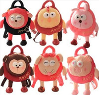 Wholesale Adorable Metoo Stereo Eyes Stuffed Animals Backpack Child Cartoon Plush Toys School Bag Kid Fancy Gifts Styles D0061