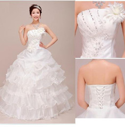 Wholesale Hot Sale Princess Strapless designer Bridal Wedding Dress Factory Best Price