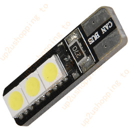 100pcs White T10 168 W5W 6 SMD LED Bulb Vehicle Car Canbus Error Free Light Bulb for wholesale free shipping