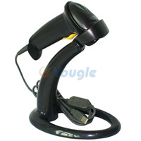 Wholesale New Black USB XYL Laser Barcode Bar Code Scanner Reader Decoder with Stand