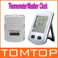 Mechanical Digital Desk Clocks Digital Wireless Indoor Outdoor Thermometer Weather Station Clock For Home Garden Freeshipping