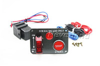 Wholesale Neverland Racing Car V Ignition Switch Panel Engine Start Push Button Red LED Toggle
