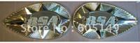 ABS abs shooting - 2 NEW Gold Metal BSA Shooting star Super Rocket A65 Lightening petrol tank gas tank pear shape badges set