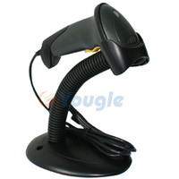 Wholesale NEW Black Able A USB Laser Barcode Bar Code Scanner Reader Decoder with Stand