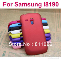 Plastic For Samsung For Samsung Galaxy S3 Mini i8190 Wholesale - Hard Case For Samsung Galaxy S3 Mini i8190,Matte Hard Case For Samsung i8190,high quality,10pcs Lot,