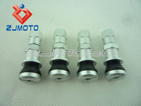 Wholesale 4 Tire Wheel Valve Stems Lightweight Aluminum Silver New For Car