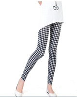Wholesale Hot Sale Houndstooth Leggings Stretchy Tight Korean Style Thin Sexy Ladies Pants Ladies Fashion Clothing LXR8