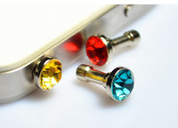 Wholesale Fashion cellphone accessories Diamond Cell phone Anti Dust plug for iphone4 S ipad2 mini MP3 MP4 samsung