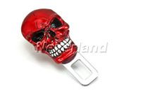 Wholesale Neverland Car Vehicle Skull Auto Safety Seat Belt Socket Buckles Mental Clasp Stop Alarm