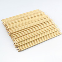 Wholesale New supernova Sale cm Wood Sticks Tool for Nail Art Cuticle Pusher Remover Clean Wipes Cotton Lint Pads Paper T421