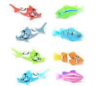Wholesale 2013 newest Novelty Robo fish and shark Water Activated Magical Turbot Fish Christmas Magic Toys Xmas Gifts