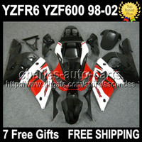 7gifts For YAMAHA YZF- R6 98- 02 YZFR6 Red white black YZF R6 ...