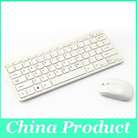 Wholesale Bluetooth Wireless Keyboard Mouse Combo White for Desktop Laptop Tablet Accessories with Protective Cover Durable Cheaper PC