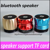 other Universal Computer Discount 60pcs Bluetooth wireless speaker V3.0+EDR version mini speaker + Hands-free function support TF card for Tablet PC 3colors in stock