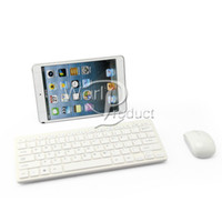 Wholesale White GHz Wireless Keyboard Mouse Combo for Desktop Computer Desktop Laptop Tablet Accessories with Protective Cover Hot Sell PC