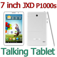Wholesale 7 inch Phable Android MTK6515 dual card dual standby Tablet PC Dual camera P1000s JXD Venus G bluetooth GSM Wireless Unlocked