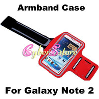 Wholesale Fashion Sport Gym Running Armband Protector Belt Soft Case Cover for Samsung Galaxy Note N7100 Note N7000 I9220