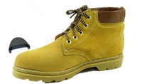 Wholesale 2013 steel toe men leather safe working shoes steel toe cap safety boots men safety shoes outdoor shoes