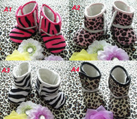 Girl baby boy gift items - Leopard Baby Boys Girls Keep Warm Antiskid Snow Boots Zebra Prewalker Shoes Pink Infant Shoes Hottest Item Kids Winter Gift